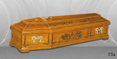 42 - обикновен и луксозен ковчег в Благоевград и Симитли, махагон, метален, лукс - Денонощна траурна агенция Зогри, Благоевград и Симитли