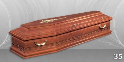 57 - обикновен и луксозен ковчег в Благоевград и Симитли, махагон, метален, лукс - Денонощна траурна агенция Зогри, Благоевград и Симитли
